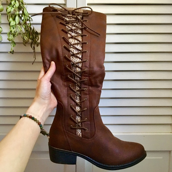 So Kohls Brand Nwt Tall Leather Lace Up